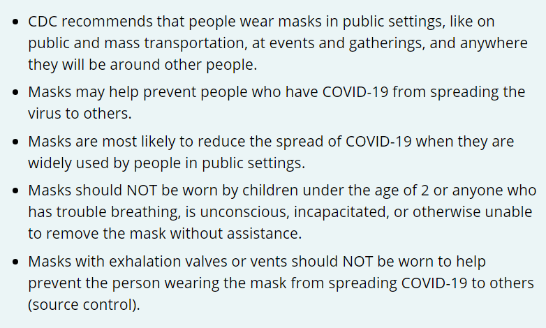 CDC Article Discusses Best Practices in Mask Wearing 1
