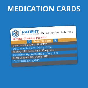 Medication cards button