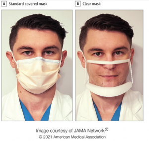 See-through surgical masks help put people at ease