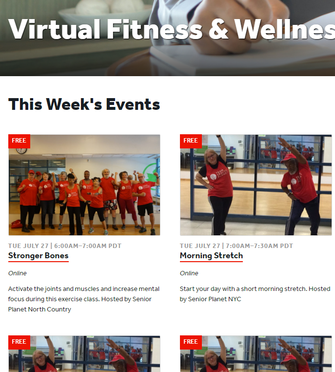 Read more about the article Virtual Fitness & Wellness Events – All Free